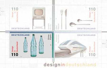 Sonderbriefmarke: Design in Deutschland